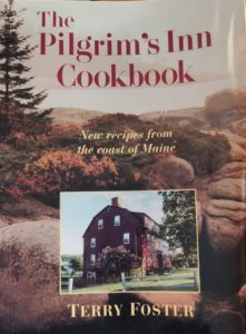 Photo of the cover of The Pilgrim's Inn Cookbook by Terry Foster.